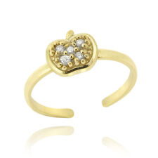 Cz Apple Toe Ring Gold over 925 Silver