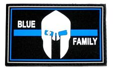 Velcro parche rubberpatch aprox. 8 x 5cm Blue family Thin Blue Line policía Police