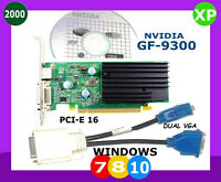 WINDOWS 10 DUAL Monitor Video Card.  PCI-E 16.  VGA x2 Ports. NVIDIA PCI-EXpress