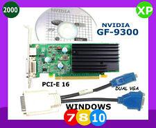 WINDOWS 10 DUAL Monitor Video Card.  PCI-E 16.  VGA x2 Ports. NVIDIA PCI-EXpress