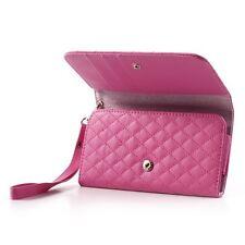 Teléfono móvil-funda universal l Rhomb Book Deep Pink estuche abatible Business, funda, estuche, funda abatible