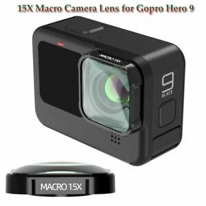 15X Macro Close Up Camera Lens for Gopro Hero 9 Black Optical Glass Lens Vlog