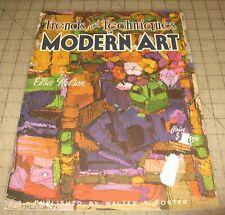Vintage TRENDS & TECHNIQUES IN MODERN ART Walter T. Foster Art Instruction Book