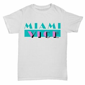 MIAMI VICE T-SHIRT TV TUBBS POLICE DRUGS TRIBUTE 90S MOVIE FILM CULT 80S GIFT