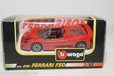 BBURAGO BURAGO 4152 FERRARI F50 F 50 RED MINT BOXED