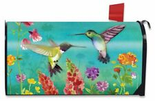 Hummingbird Greeting Spring Large / Oversized Mailbox Cover Floral