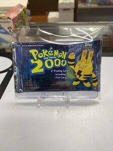 1x Pokemon The Movie 2000 Topps Sealed Unopened Booster Elekid Art