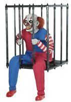Caged Clown Costume Prop Walk Around Animated Halloween Illusion Freakshow