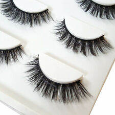 LX_ EG_ 3 Pairs Make Up 3D Natural Soft Thick Long Cross False Fake Eyelashes