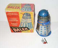 More details for dr who 1965 codeg blue tin clock work dalek bbc with original box
