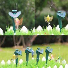 Birds Fluttering Dancing Fly Solar Power Vibration Hummingbird Garden Decor