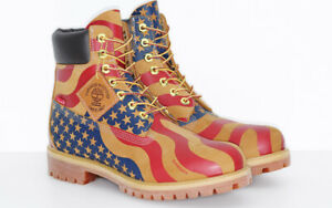"Supreme Timberland 6"" Boot Stars & Stripes Wheat Size 10.5 TB0A1PHF FW17"
