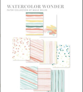 Papertrey Ink Stamps WATERCOLOR WONDER Cardstock Pad Patterned Paper A2 Size
