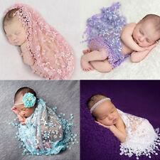 EG_ Soft Lace Newborn Baby Photo Photography Prop Tassel Cloth Backdrop Retro