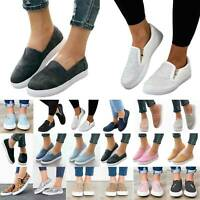 Womens Casual Slip On Loafers Comfort Flat Shoes Sneakers Trainers Outdoor New