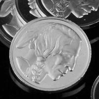 1 Gram .999 Fine Silver Fractional Bullion Round -Indian Head  Design