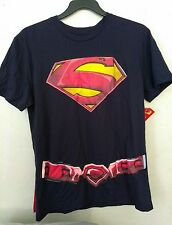 New superman tshirt  with removable cape(2XL)