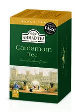 Ahmad Cardamom Black Tea  1 Case, 6 box of 20 ct Tea Bags NEW
