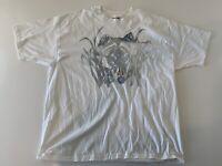 VTG 90's Hanes 50/50 Single Stitch Wolf Sz 2XL White T Shirt W3
