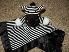 2A Circo ZEBRA Plush Velour Satin Lovey Security baby Crib Blanket