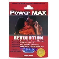 1x POWER MAX REVOLUTION Sexual Enhancer Pill Libido Stamina Powerzen Extenzen B6