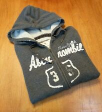 Abercrombie & Fitch grey heather full front zip hoodie, ladies size large