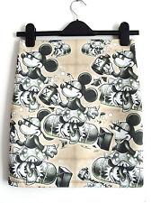Minnie Mouse BOMBA ATOMICA Minigonna-Taglia 12 14-Bodycon Tempo di Guerra 1940s Pin Up