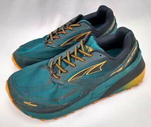 Altra Olympus 3.5 Trail Running Shoes Mens 12 Zero Drop Athletic Vibram Green