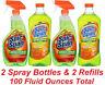(4 PK) Spic and Span Spray & Refills Cleaner Kills Germs Bacteria Antibacterial