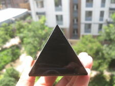 1pcs Natural obsidian lava-rock material wholesale crystal pyramid healing