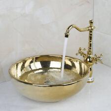 Gold Mixer Faucet & New Arrival Bathroom Faucet Round Paint Golden Bowl Sinks