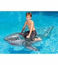JAWS SHARK Stable Ride On FLOAT Swimming POOL Beach Inflatable Vinyl 9045