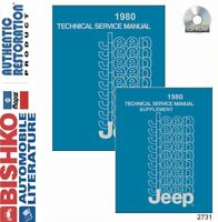 Bishko OEM Digital Repair Maintenance Shop Manual CD for Jeep All Models 1980