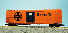 "Usa Trains G Scale 50' Mechnical Reefer R16702 Santa Fe ""Ship and Travel"" - Oran"