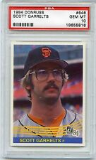 1984 DONRUSS #646 SCOTT GARRELTS - GIANTS PSA 10 GEM MINT POP 12