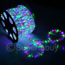 Multi-RGB LED Rope 150ft 110V 2 Wire Flexible DIY Lighting Outdoor Christmas