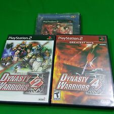 Dynasty Warriors 2,3,4 PS 2 PlayStation 2 Sony Game Lot 3  Video Games Kobi