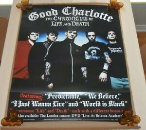 GOOD CHARLOTTE Chronicles Of Life & Death POSTER 2004 Store Promo 24 x 30