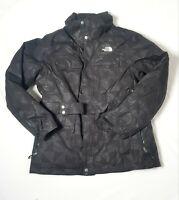 The North Face Womens Large  HyVent 600 Goose Down Black Parka Coat/Jacket Belt