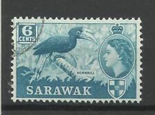 Sarawak 1964/5 SG 206, 6 C blu verdastro, usato fine [1457]