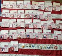 lot 45 old POLITICAL CAMPAIGN pinbacks button PIN Hats off to the Past president