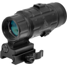 UTG 3X Rifle Adjustable Scope Magnifier w/ Flip to side QD Rail Mount SCPMF3WEQS