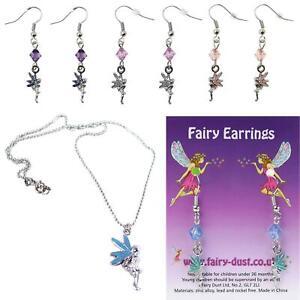Fairy Dust Necklace Bracelet Ear Rings Pendant Jewellery Child Party Bag Filler