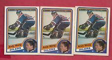 3 X 1984-85 OPC # 255 OILERS ANDY MOOG EX-MT  CARD