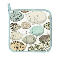 "Michel Design Works ""Nest & Eggs"" Cotton 9x9"" Potholder One Hanging Tab NEW"