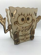 Large Spongebob Desk Organizer Comes With 2019 Carved Wood Christmas Tags