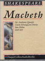 William Shakespeare Macbeth 2 Cassette Audio Book Anthony Quayle Ian Holm Cast