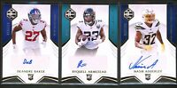 2019 Panini Prizm Limited Rookie Auto Lot /199. Baker, Adderly, Armstead. SSP