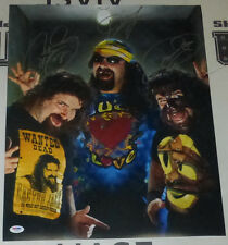 Mick Foley 3x Faces Signed 16x20 Photo PSA/DNA COA WWE Picture Autograph ECW WCW