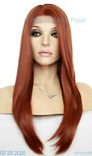 LONG STRAIGHT LACE FRONT WIG | COLOR 130 RED/BROWN | HOT LONG STYLE 140